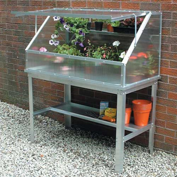 The Easy Access Cold Frame and Bench Together